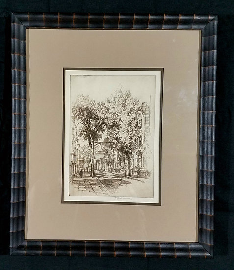 "Joseph Pennel Willow Street – Wuerth, 246""Etching and Dry Point"