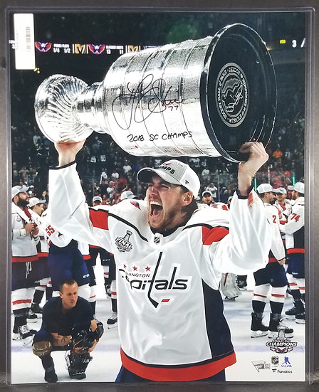 SOLD Washington Capitals Signed T.J. Oshie Stanley Cup photo (Certified)