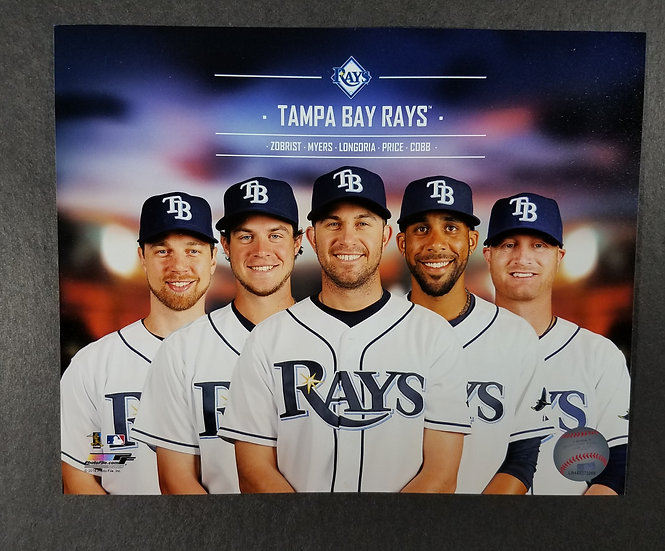 Tampa Bay Rays Official MLB 8 x 10 photo