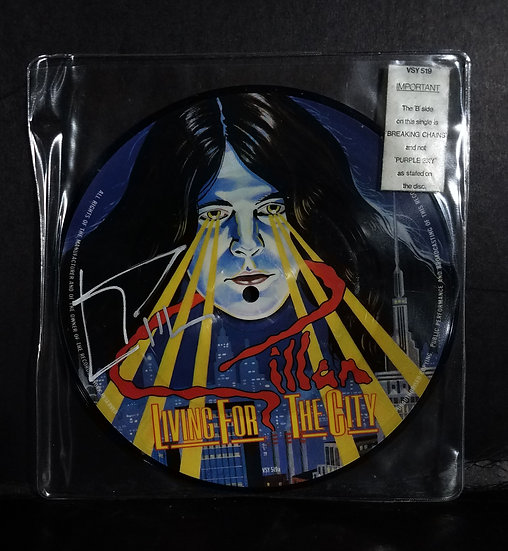 "Ian Gillan Deep Purple signed Picture Disc 7"" Record"