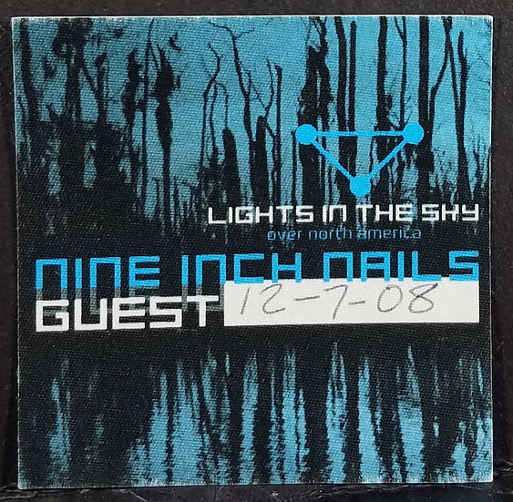 SOLD Nine Inch Nails Back Stage Pass/Guest/2008