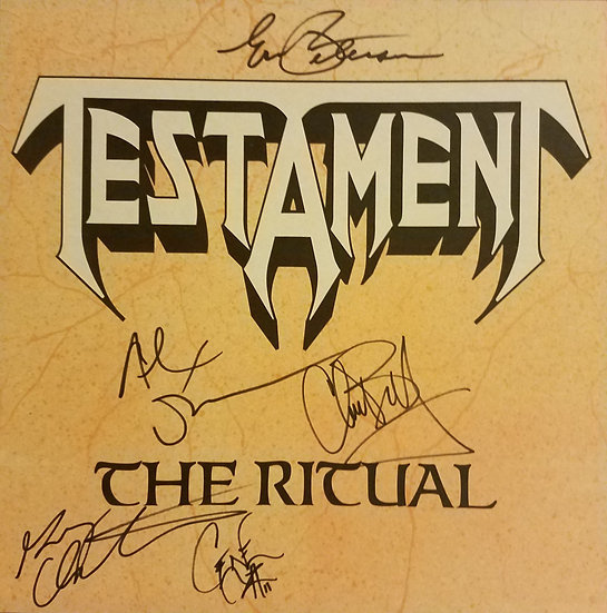 "Testament signed promotional flat ""The Ritual"""