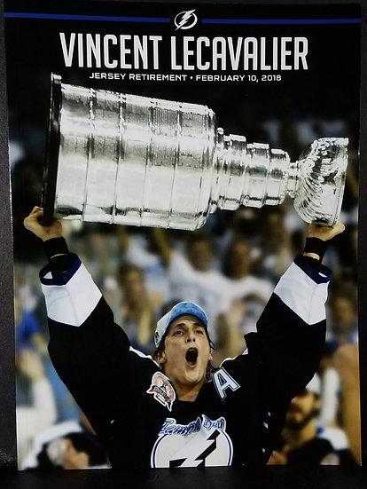 Tampa Bay Lightning Vincent LeCavalier Jersey Retirement Program Book and Jerse