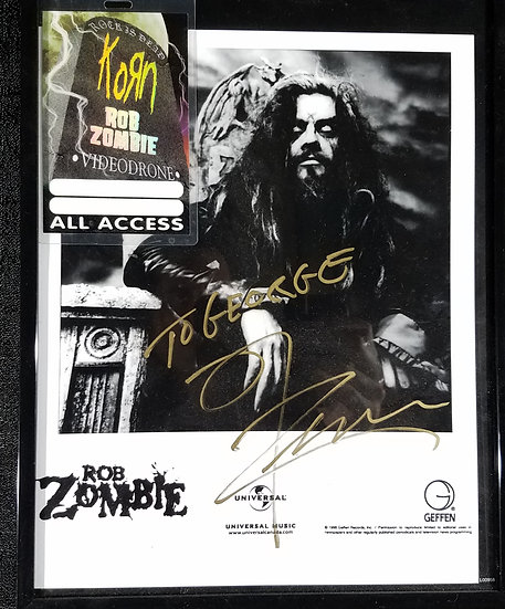 Rob Zombie Signed Photo/Pass