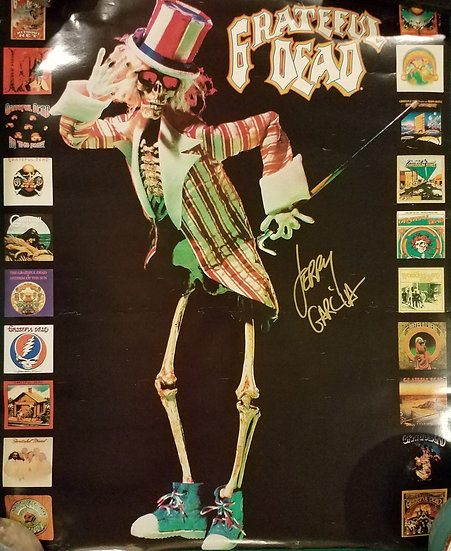 SOLD Grateful Dead Promo Poster signed by Jerry Garcia