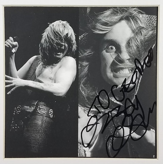 Ozzy Osbourne signed Diary Of A Madman CD insert