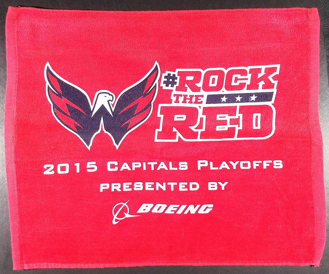 """Washington Capitals """"Rock The Red"""" Playoff Towels"""