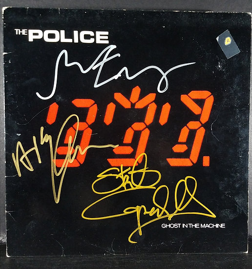 """The Police signed """"Ghost in the Machine"""" LP"""