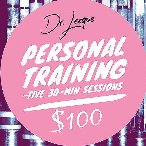 Virtual Five (5) 30 min sessions