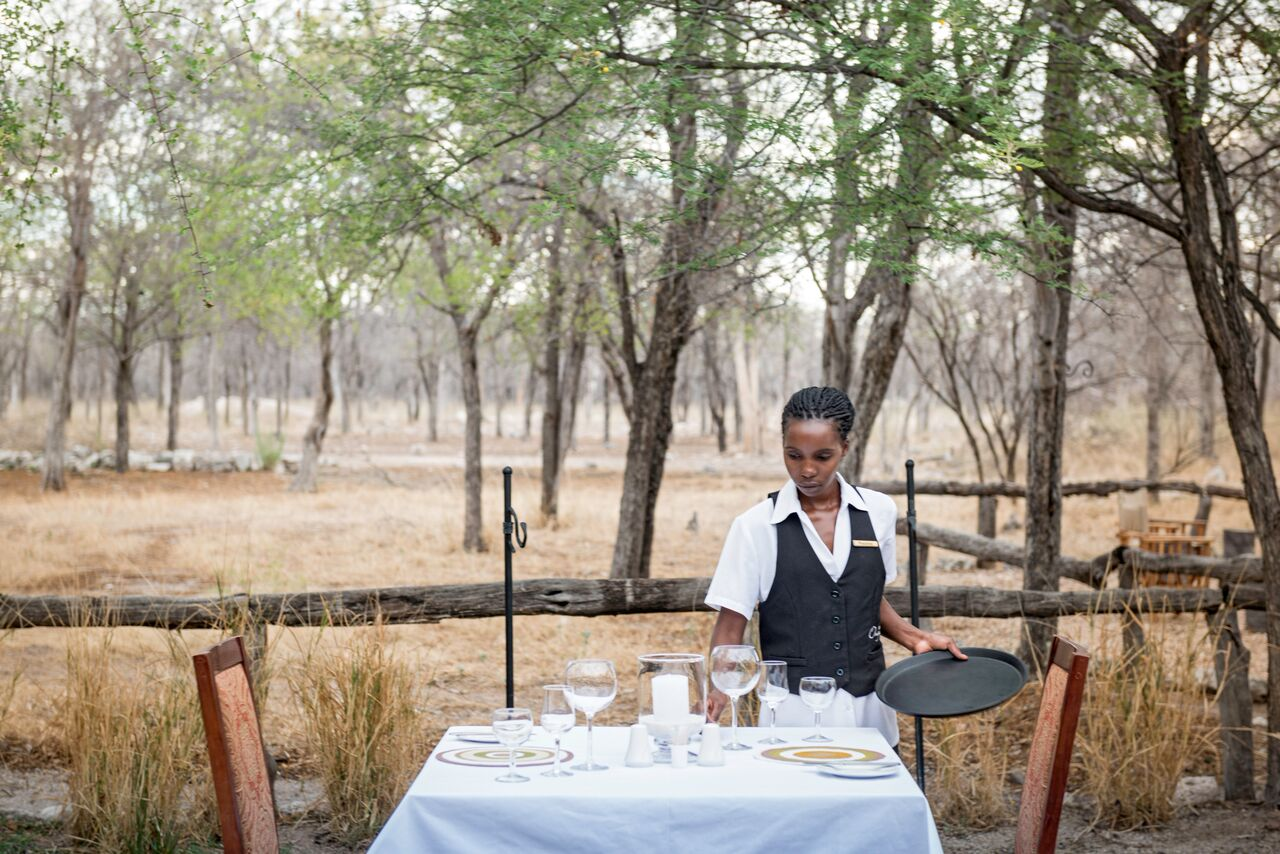 Dining at Etosha Aoba Lodge