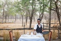 Dining at Etosha Aoba Lodge