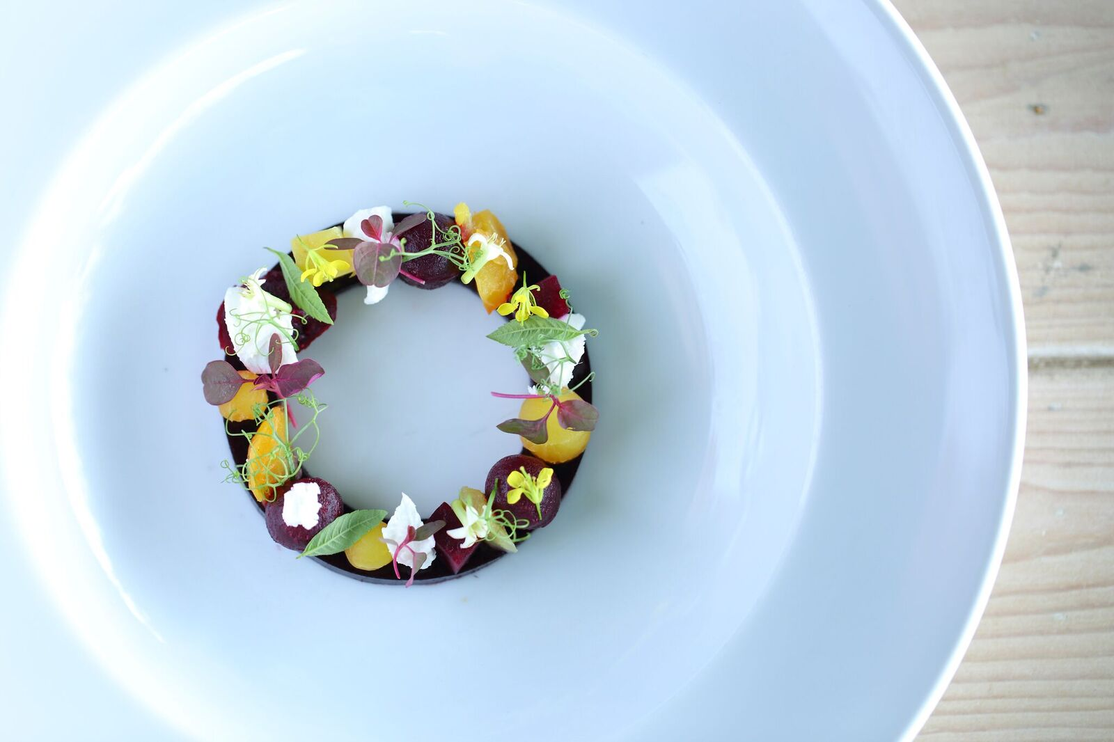 Tasting of Beetroot and Goats Cheese