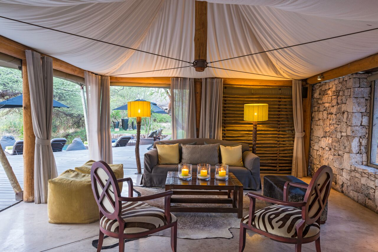 Onguma Tented Camp Reception