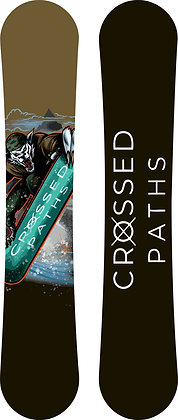 Custom Crossed Paths Wolf Snowboards