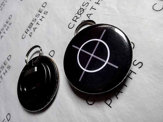 Crossed Paths Bottle Opener Keyring - Logo