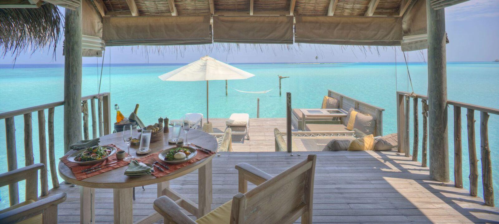Gili Lagoon Villa Living & Dining Area