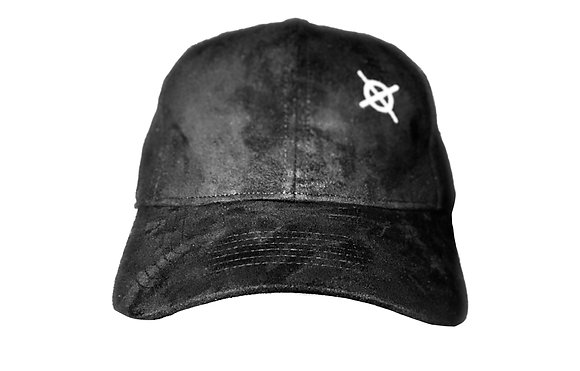 Crossed Paths Sueded White Logo Baseball Cap