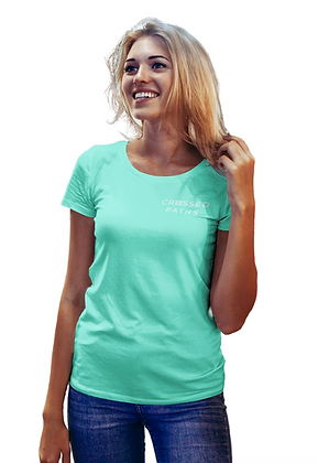Crossed Paths Unisex Mint Short Sleeved Tee
