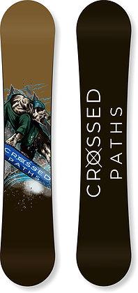 Custom Crossed Paths Bear Snowboard