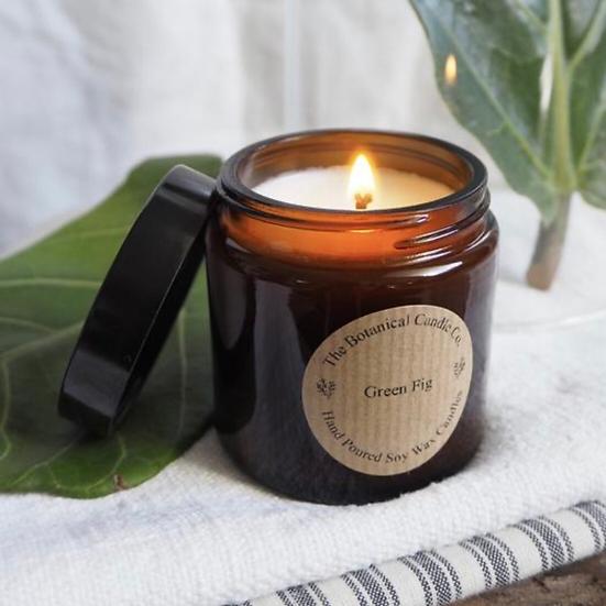 The Botanical Candle Company Amber Jar Candle