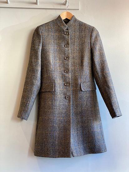 Harris Tweed Mandarin Collar Coat