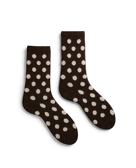 Lisa B Classic Dot Crew Socks