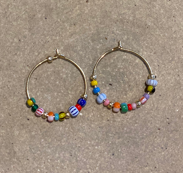 Anni Lu Golden Alaia Hoop Earrings
