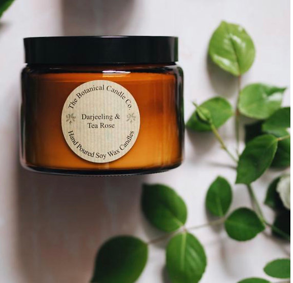 The Botanical Candle Company Amber Jar Candles