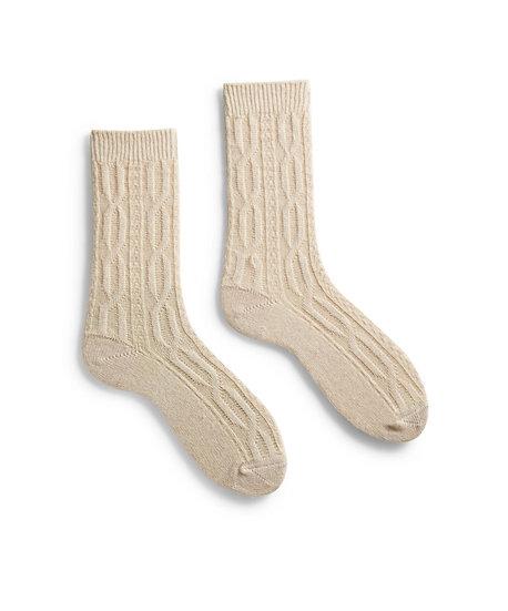 Lisa B Cable Crew Socks