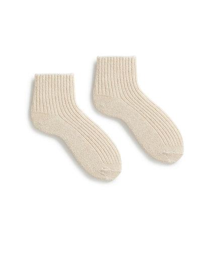 Lisa B Tipped Rib Shortie Socks