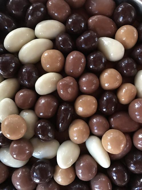 Sachet noisettes/amandes chocolat 200 gr