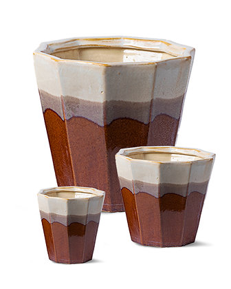 Ceramic Pot (Assorted Brown)