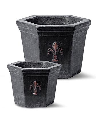 Glazed Terracotta Pot (Matt Black)