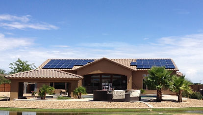 Solar Panels on Phoenix Arizona Home