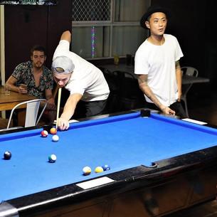 Guests love to play pool at Aquarius Gold Coast