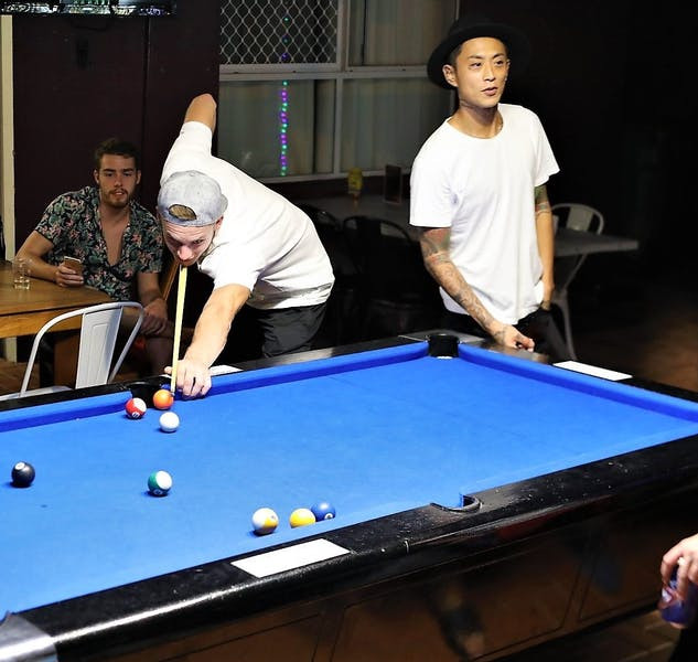 Guests love to play pool at Aquarius Gold Coast