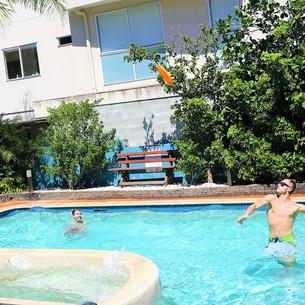 Fun times in the pool at Aquarius Gold Coast