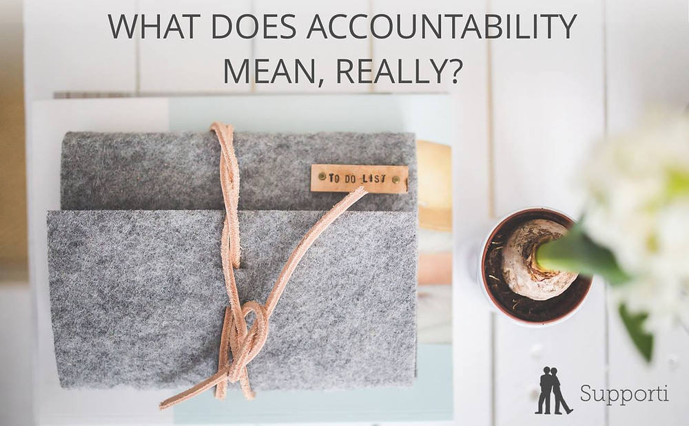 "To Do List notebook on a desk with the words ""what does accountability mean, really"""