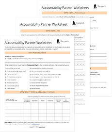Supporti's Accountability Partner Worksheet