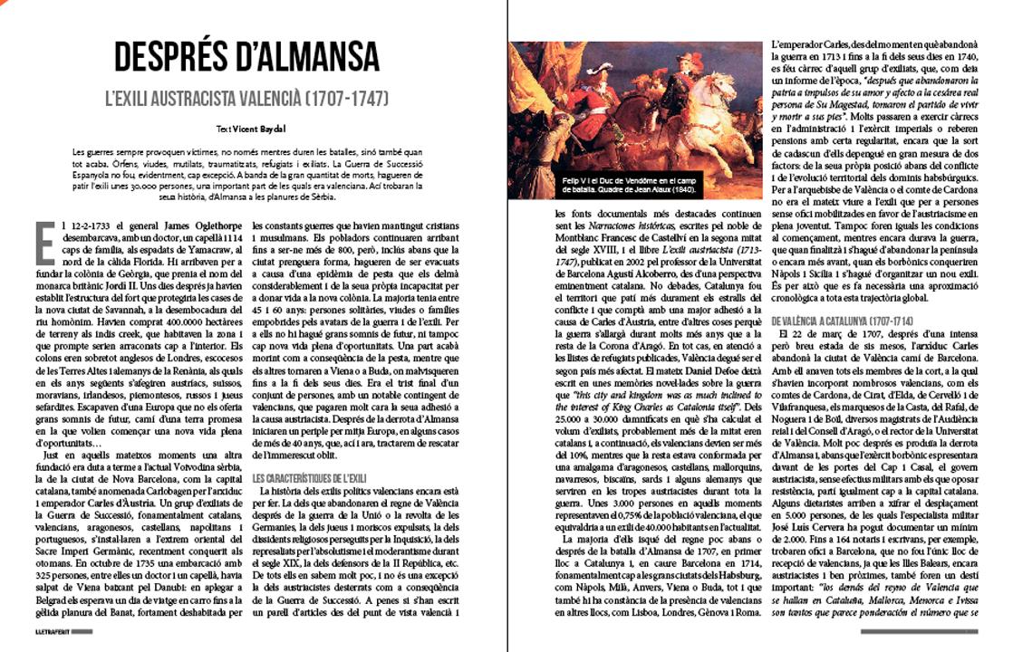 L'exili post-Almansa