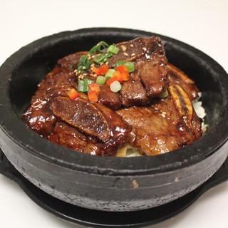 Kalbi Rice Stone Pot   갈비돌솥비빔밥