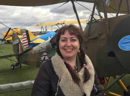 Filming at Shuttleworth Collection with BAE Systems wonderful DH60 aeroplane