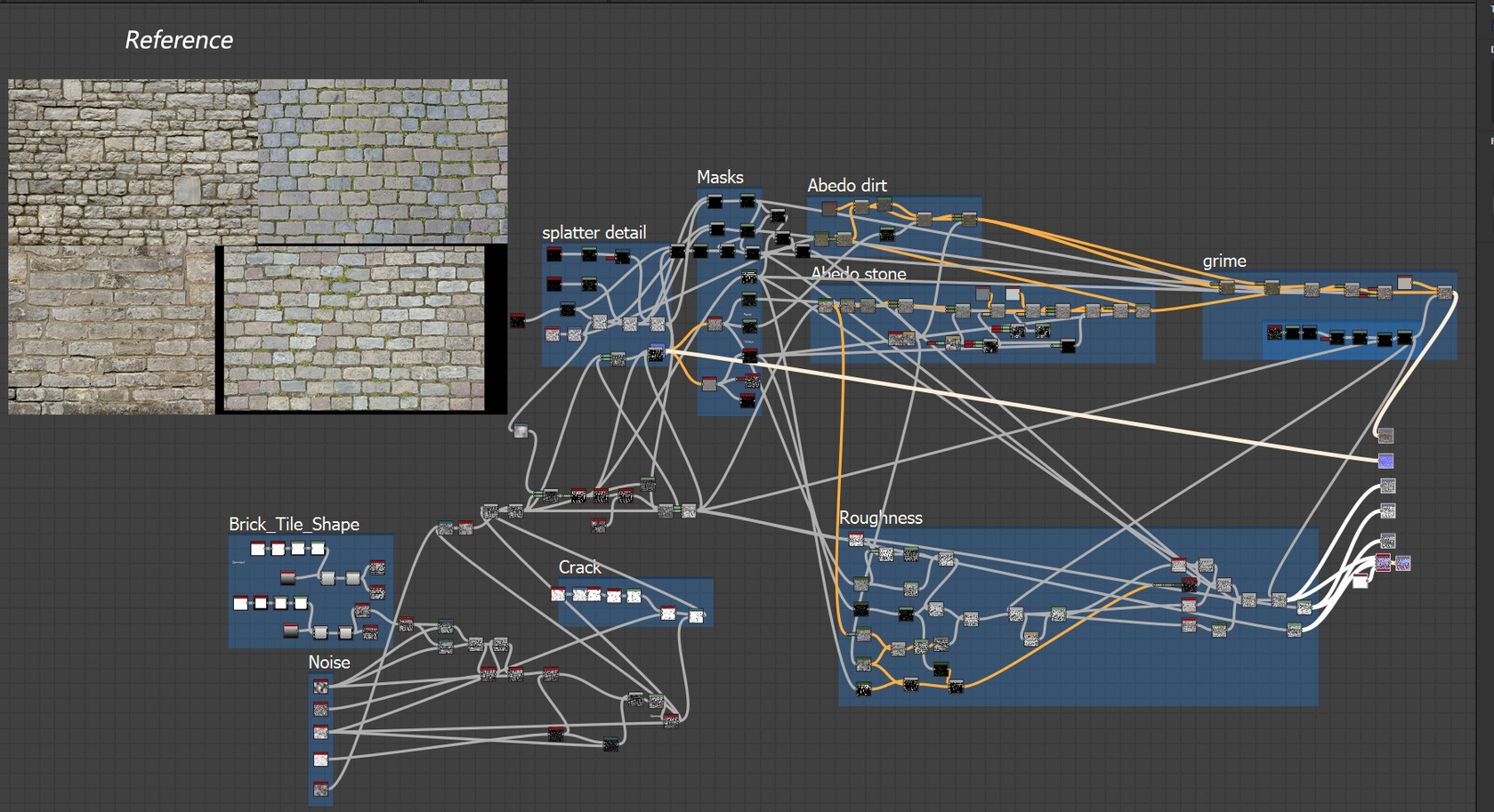 Cabble_Wall_blueprint and Reference