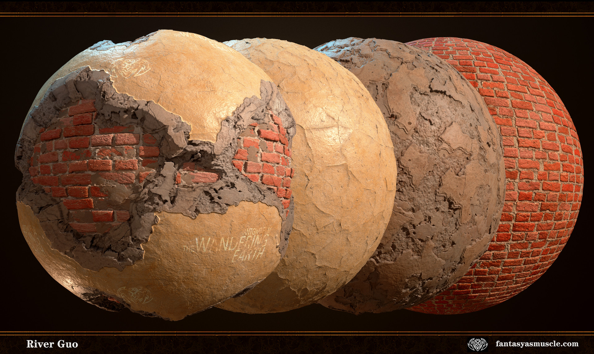 Broken Plaster and Brick