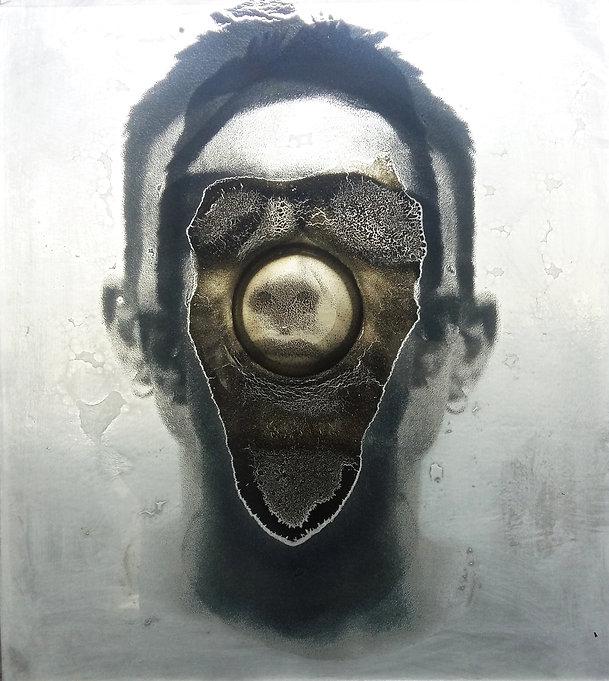 glass art portret