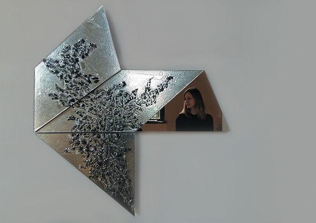 glass modular wall art design