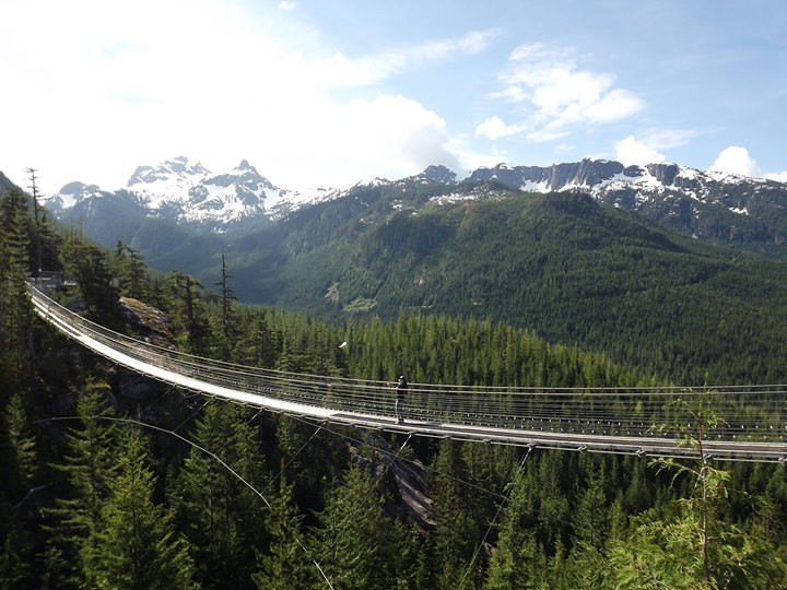 Flying on a bridge