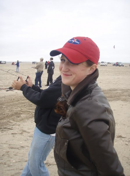 Nic on the beach at South Padre ... back then