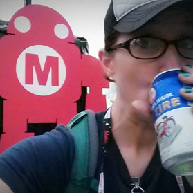 Having a cold one with Makey !  #makerfa