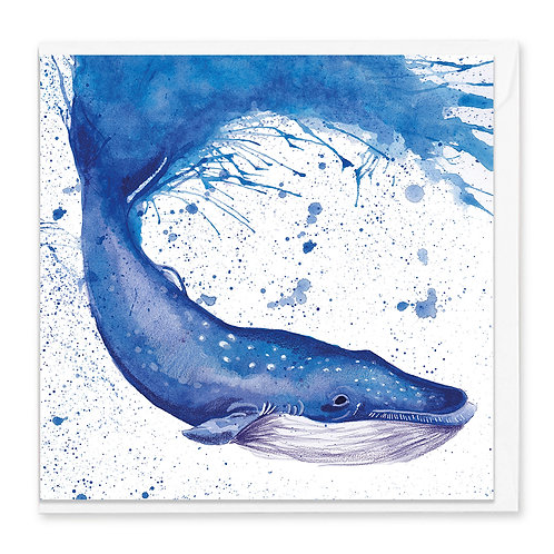 Splatter Whale Greeting Card